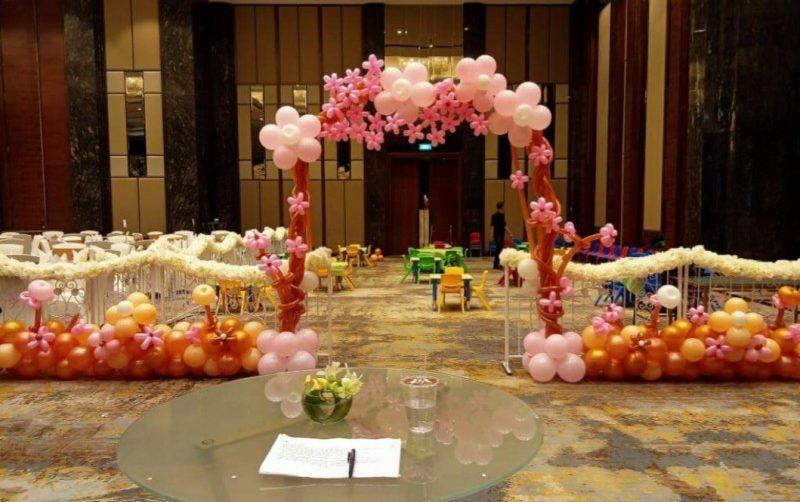 balon dekorasi simple