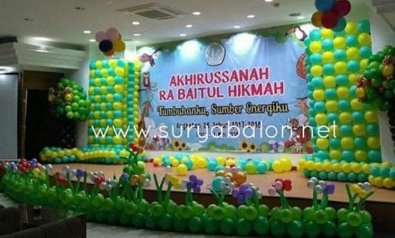 dekorasi balon panggung
