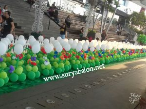 dekorasi balon tanaman