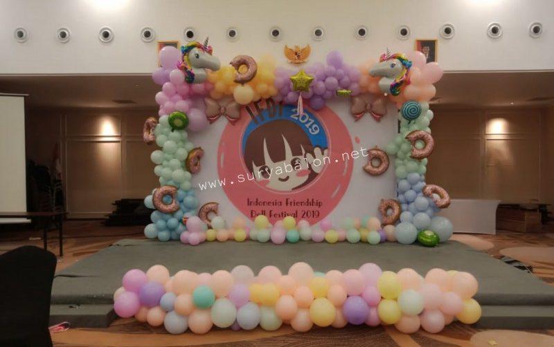 dekorasi balon pastel