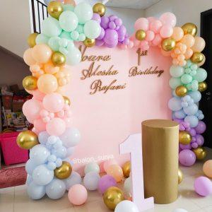dekorasi balon ulang tahun 1 tahun