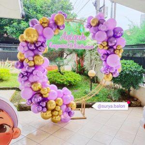 dekorasi balon ulang tahun simple