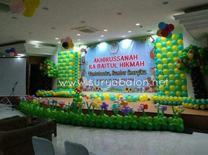 dekorasi balon perpisahan
