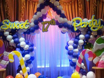 dekorasi sweet seventeen