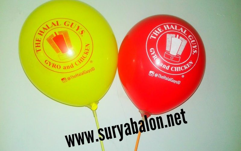 vendor balon sablon